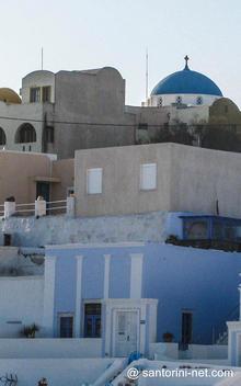 Ai-Stratis dome, the main church in Imerovigli.