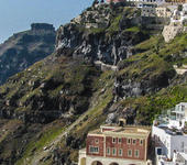 Fira buildings and skaros in the background